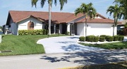 Example of a Gulf access waterfront home found on the Eight Lakes in Cape Coral, Florida