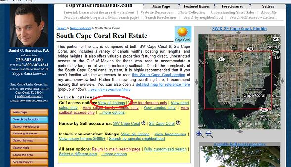 View all South Cape Coral Gulf access listings for sale