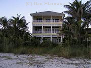 Example of fancy beachfront homes, Bonita Beach, $3 million+  (older homes also available from $2mil