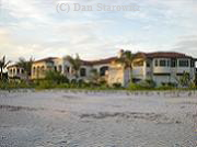 Beachfront mansion, near Blind Pass, on Sanibel.