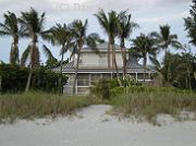 Beachfront, Old Florida Style home, on Captiva.   Prices for decent beachfront homes on Sanibel and Captiva start around $3 million