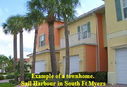 Townhome example in Fort Myers, FL