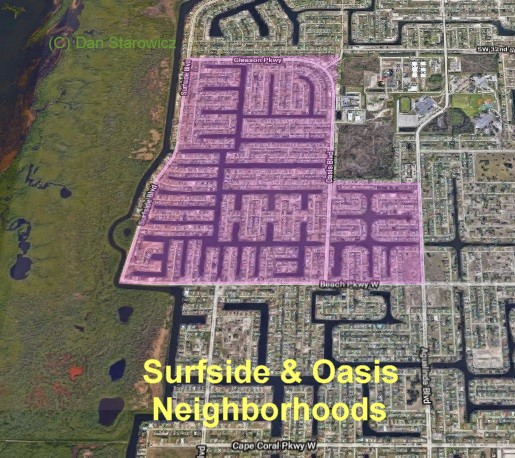 surfside and oasis map